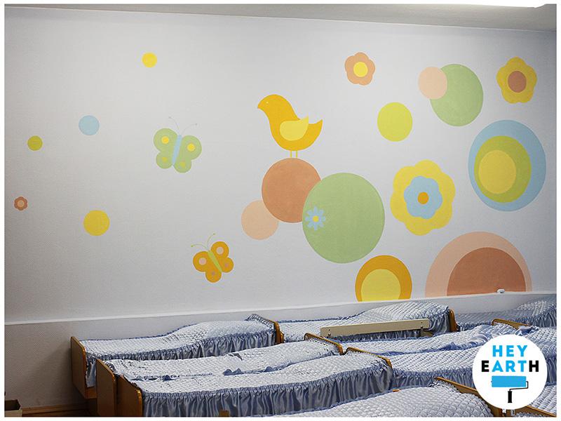 Оформление стены в детском саду фото